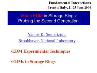 Muon EDM  in Storage Rings:         Probing the Second Generation.