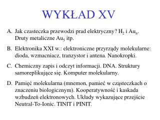 WYK ŁAD XV