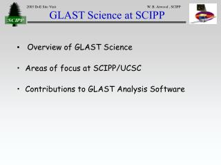 GLAST Science at SCIPP