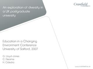 An exploration of diversity in a UK postgraduate university