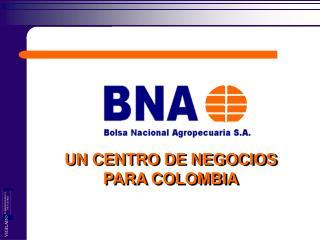 UN CENTRO DE NEGOCIOS  PARA COLOMBIA