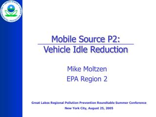 Mobile Source P2: Vehicle Idle Reduction