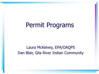 Permit Programs