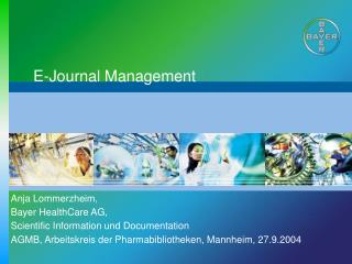 E-Journal Management