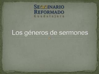 Los g éneros de sermones