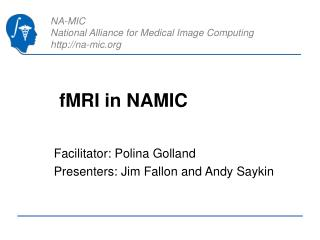 fMRI in NAMIC