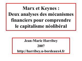 Jean-Marie Harribey 2007  harribey.u-bordeaux4.fr