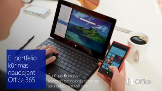 E.portfelio kūrimas naudojant  Office 365