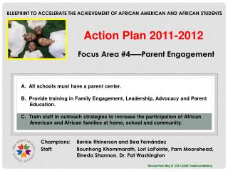 Blueprint to Accelerate the Achievement of African American and African Students