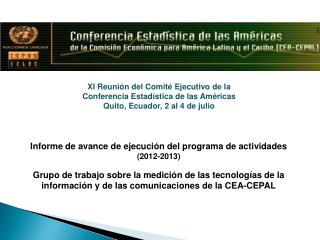 Informe de avance de ejecución del programa de actividades (2012-2013)