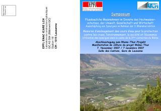 Abschlusstagung zum Rhone-Thur-Projekt Manifestation de clôture du projet Rhône-Thur