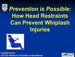 Prevention is Possible: How Head Restraints Can Prevent Whiplash Injuries