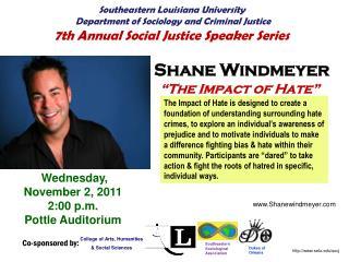 "Shane Windmeyer    ""The Impact of Hate"""