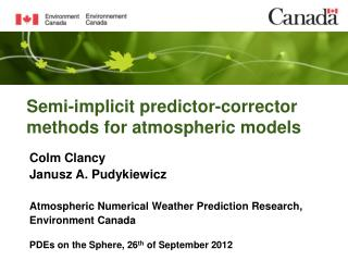 Semi-implicit predictor-corrector methods for atmospheric models