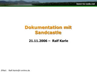 Dokumentation mit Sandcastle
