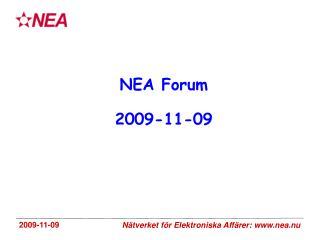 NEA Forum 2009-11-09