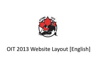 OIT 2013 Website Layout [English]