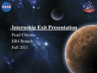 Internship Exit Presentation