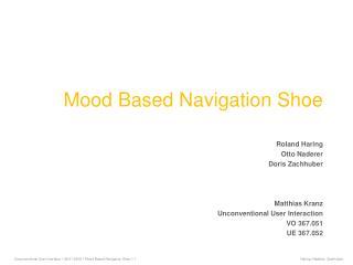 Mood Based Navigation Shoe