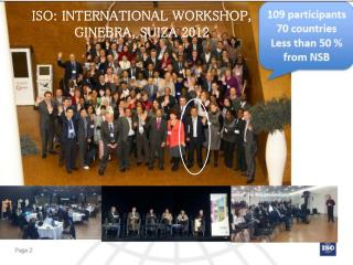 ISO: INTERNATIONAL WORKSHOP, GINEBRA, SUIZA 2012