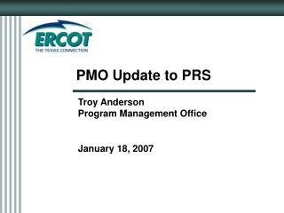 PMO Update to PRS