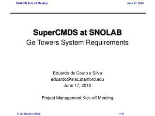 SuperCMDS at SNOLAB