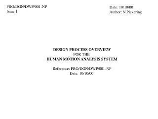 PRO/DGN/DWP/001-NP Issue 1