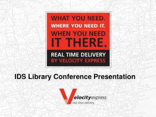 IDS Library Conference Presentation