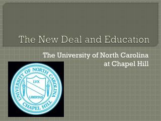 The New Deal and Education