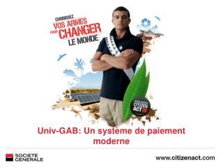Univ-GAB: Un système de paiement moderne