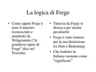 La logica di Frege