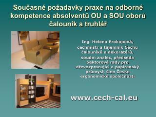 Současné požadavky praxe na odborné kompetence absolventů OU a SOU oborů čalouník atruhlář