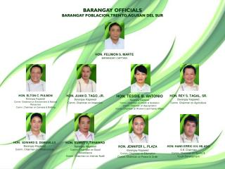 BARANGAY OFFICIALS BARANGAY POBLACION, TRENTO, AGUSAN DEL SUR