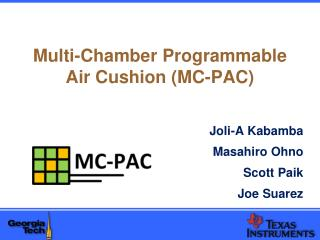 Multi-Chamber Programmable Air Cushion (MC-PAC)