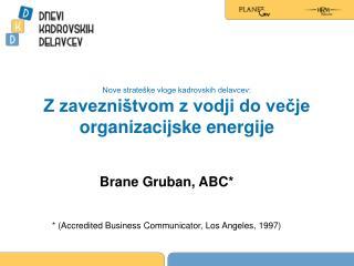 Nove strateške vloge kadrovskih delavcev:  Z zavezništvom z vodji do večje organizacijske energije