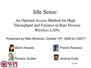 Idle Sense: