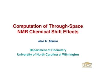 Computation of Through-Space  NMR Chemical Shift Effects