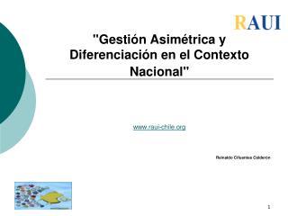 """""""Gestión Asimétrica y Diferenciación en el Contexto Nacional"""""""