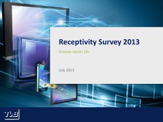 Receptivity Survey 2013