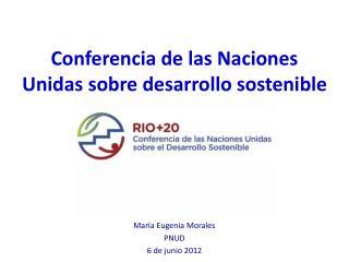 Conferencia de las Naciones Unidas sobre desarrollo sostenible