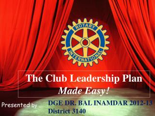 The Club Leadership Plan Made Easy!
