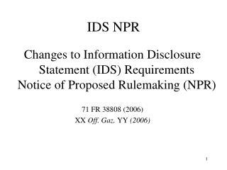 IDS NPR