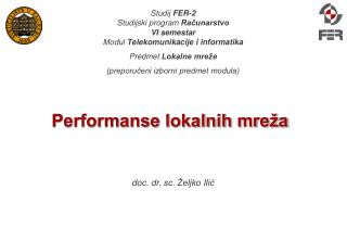Performanse lokalnih mreža
