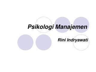 Psikologi Manajemen
