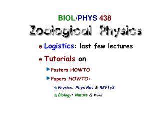 BIOL / PHYS 438
