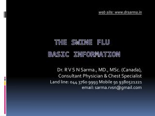 THE Swine Flu  BASIC INFORMATION