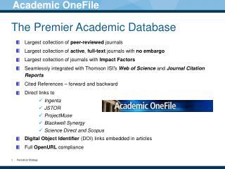 The Premier Academic Database