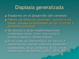 Displasia generalizada