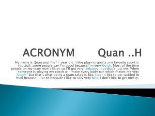 ACRONYM        Q uan  ..H