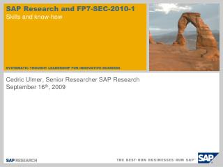 SAP Research and FP7-SEC-2010-1 Skills and know-how